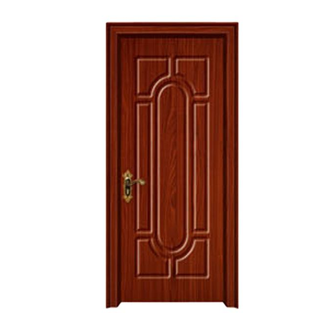 New PVC coated wooden door reliable quality MDF PVC door soundproof glass door