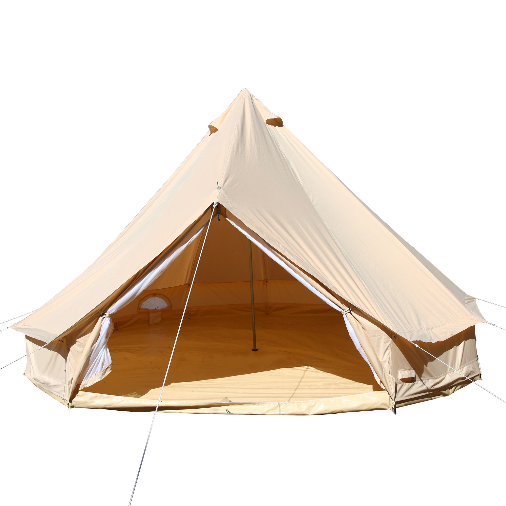 luxury glamping 3m 4m 5m 6m 7m cotton canvas bell tent for outdoor camping