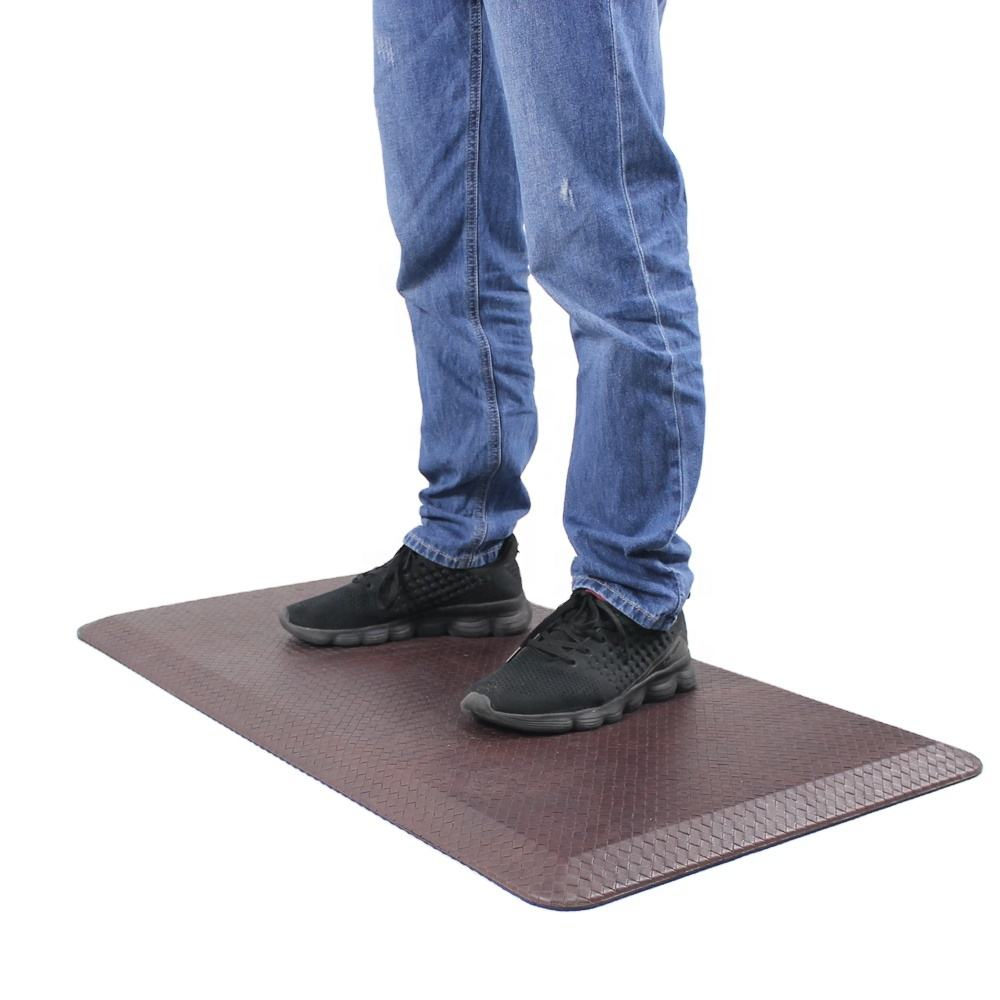 Professional Standing Desk Anti-Fatigue Comfort Floor Mat For Office Kitchen,100% PU Anti-fatigue Mat
