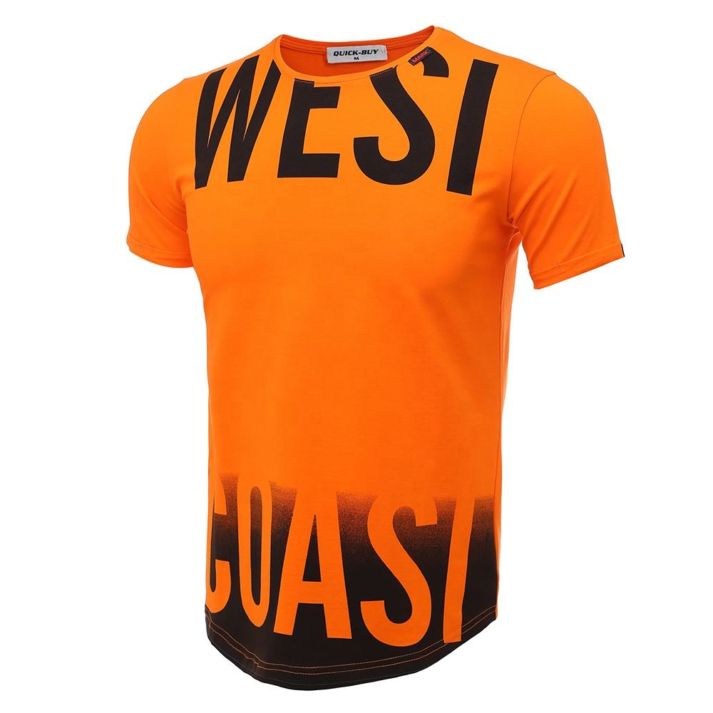Luxury Wholesale Urban Streetwear Unbranded Euro Printed Custom Logo Plus Size Curved Hem 100% Cotton O Neck Men's T Shirt