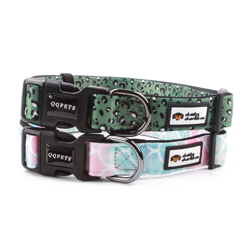 Neoprene padding for comfort and durability custom polyester dog collar