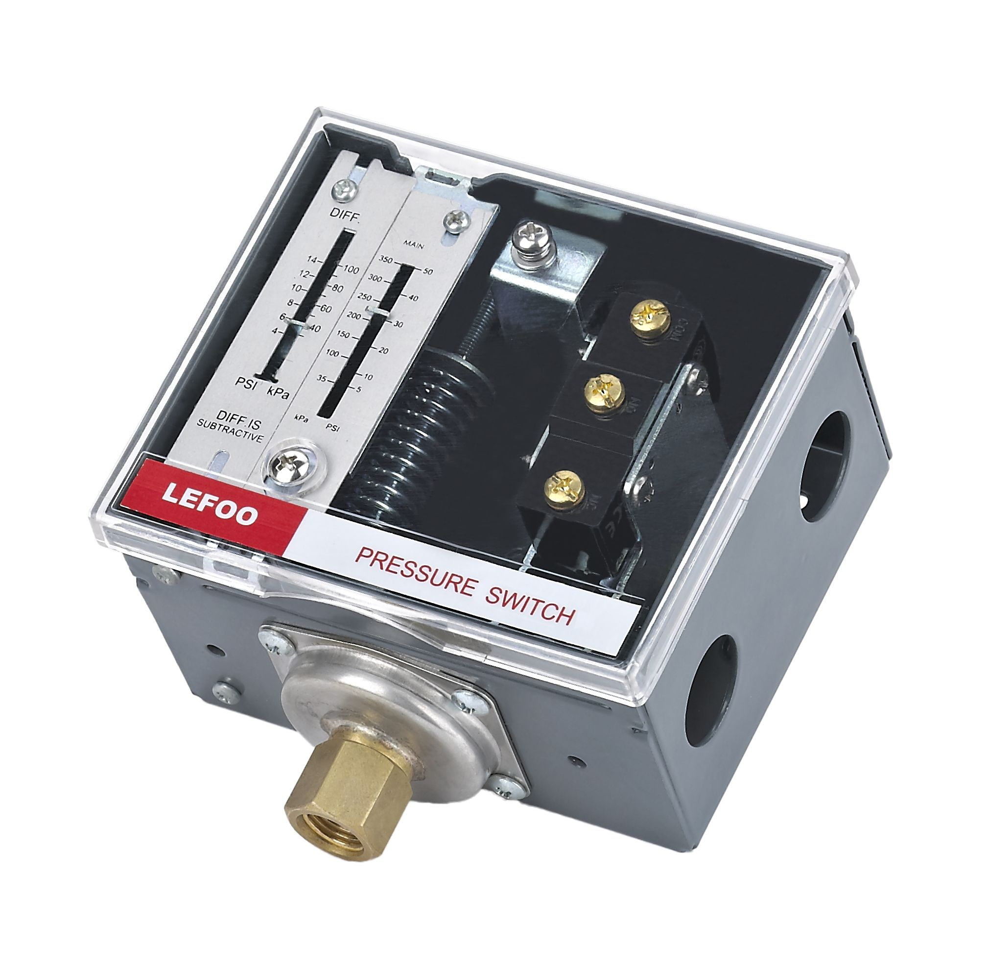LEFOO LF56 Steam Boiler pressure switch for boiler or water tower, Differential pressure adjustable pressure controller