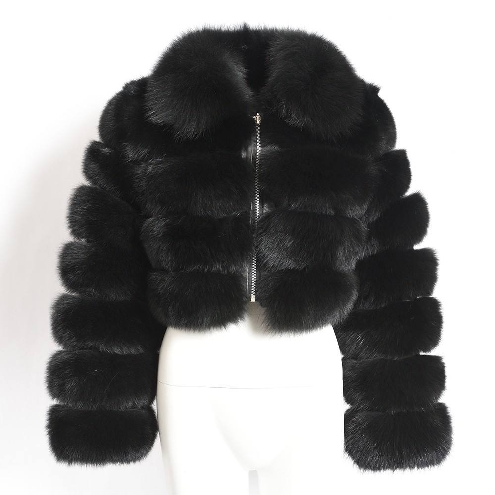 Dames Winter Jas Plus Size Warm Faux Fur Wasbeer Pluche Pluis Vrouwen Bubble Bladerdeeg Jassen