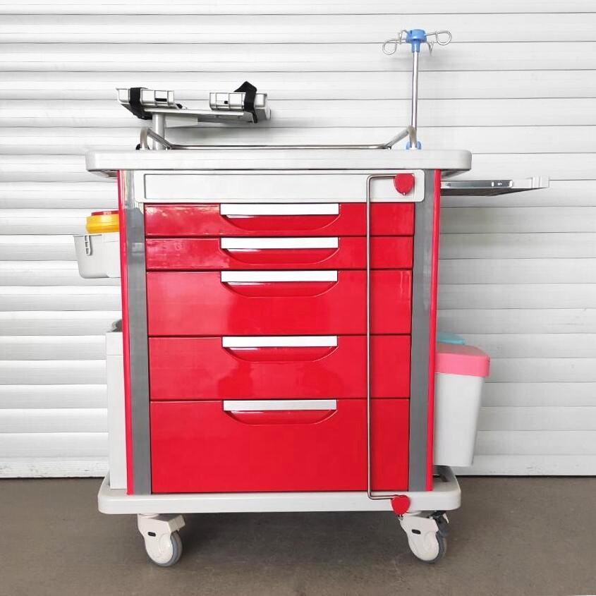 Hospital Cart New Product Hospital Medical Abs Crash Cart With Disposable Lock