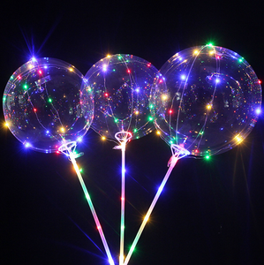 2019 hot sale event wedding decoration creative clear bobo 3m LED bubble balloons