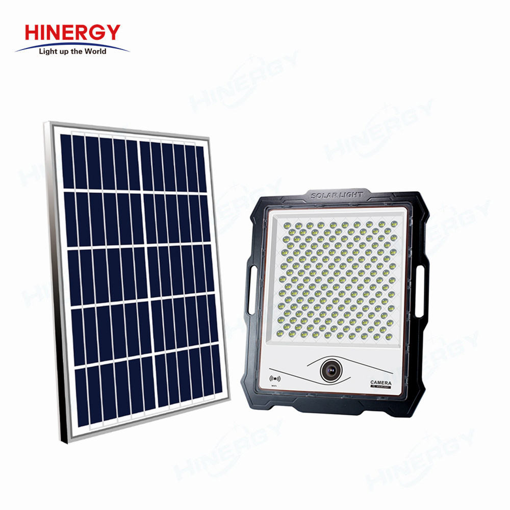Outdoor IP67 Solar Powered Spot Floodlight Solar LED Flood Light with Camera On Off Switch