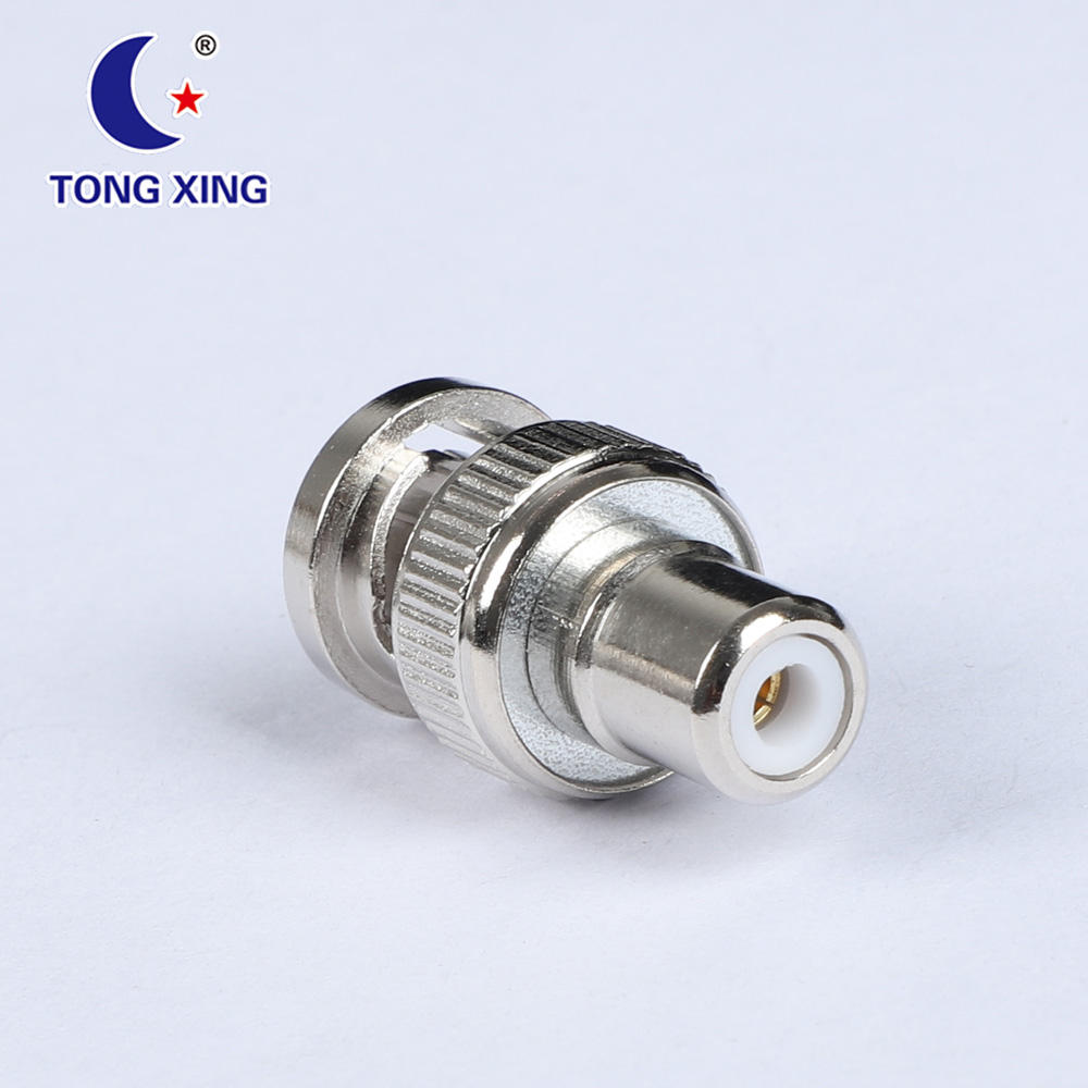 BNC Connector Plug Male To RCA Jack Female Coaxial RF Adapter