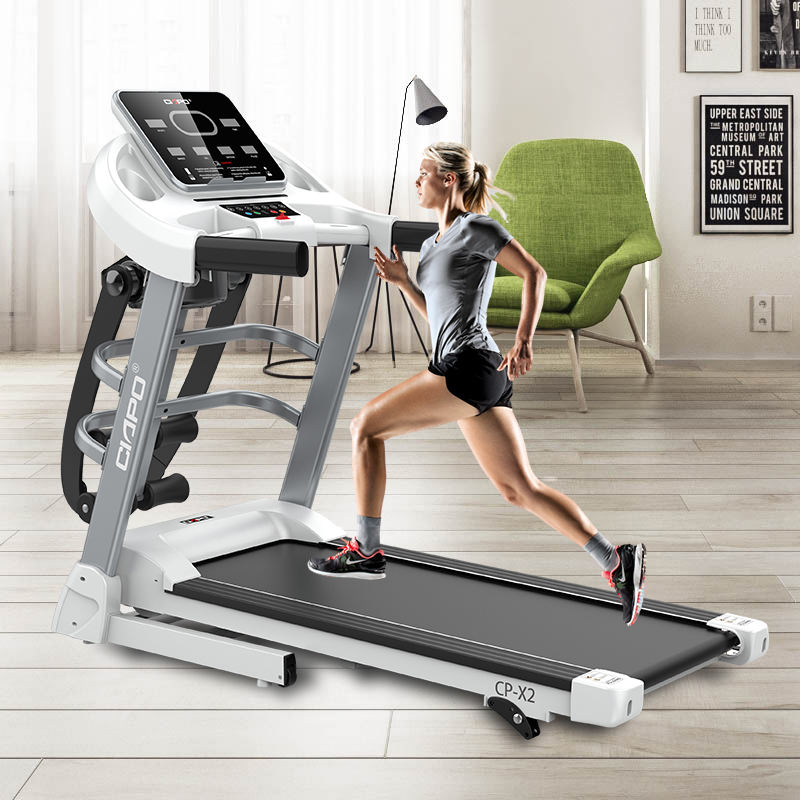 Fabrikant <span class=keywords><strong>Fitness</strong></span> Familie Run Machine Draaiende Machine Dc Motor Bluetooth Mooie Look Loopband