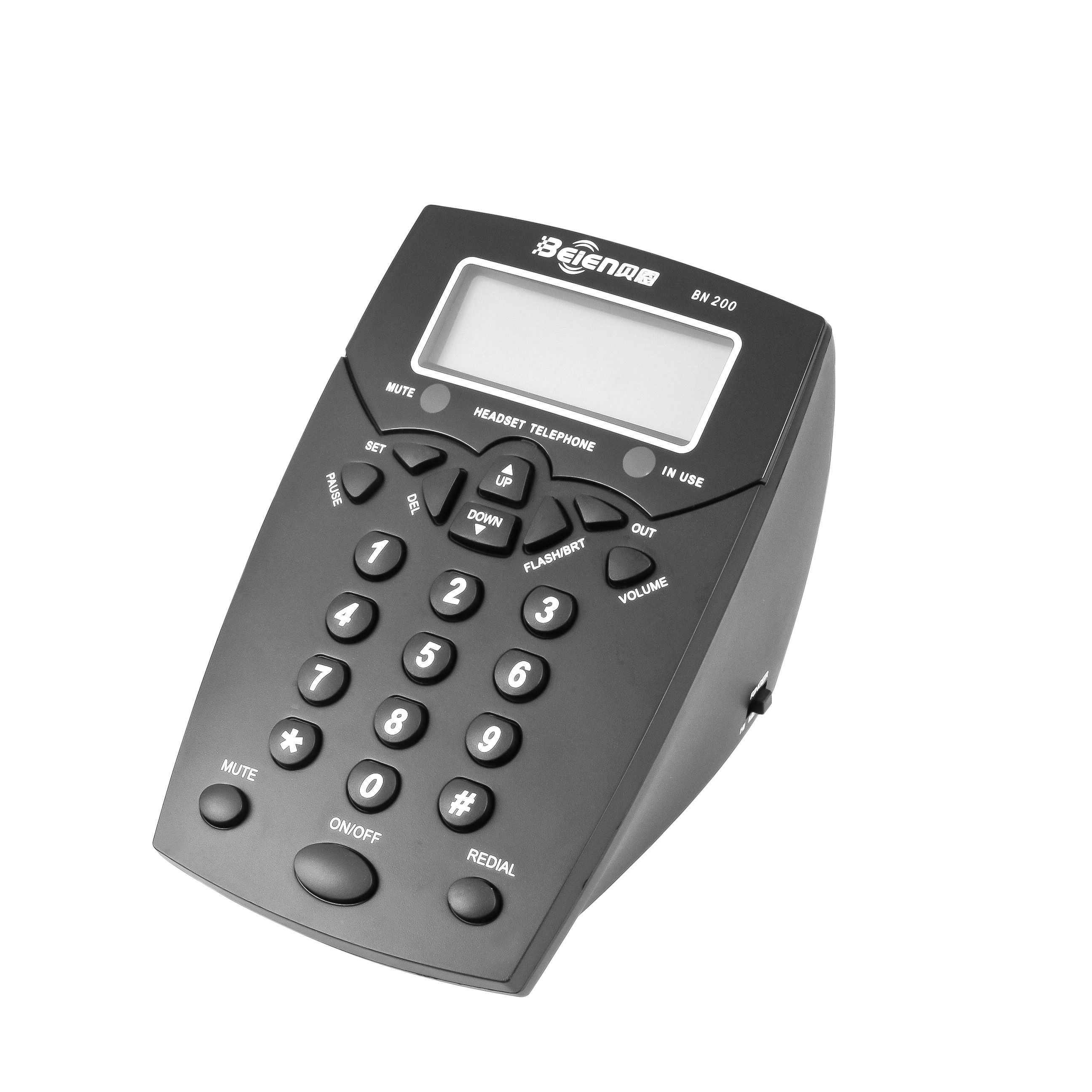 Beien Hot Jual BN200 + A16 Headset Call Center <span class=keywords><strong>Telepon</strong></span> <span class=keywords><strong>Caller</strong></span> <span class=keywords><strong>ID</strong></span>