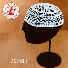 Stock Goods Handmade 100% Cotton Muslims islamic stylish prayer  kufi caps