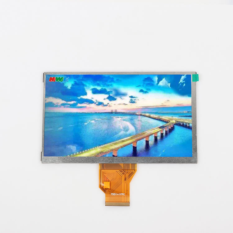 "new technology production touch panel tft lcd 800*480 digital display 7 Inch""50PIN led screen outdoor"
