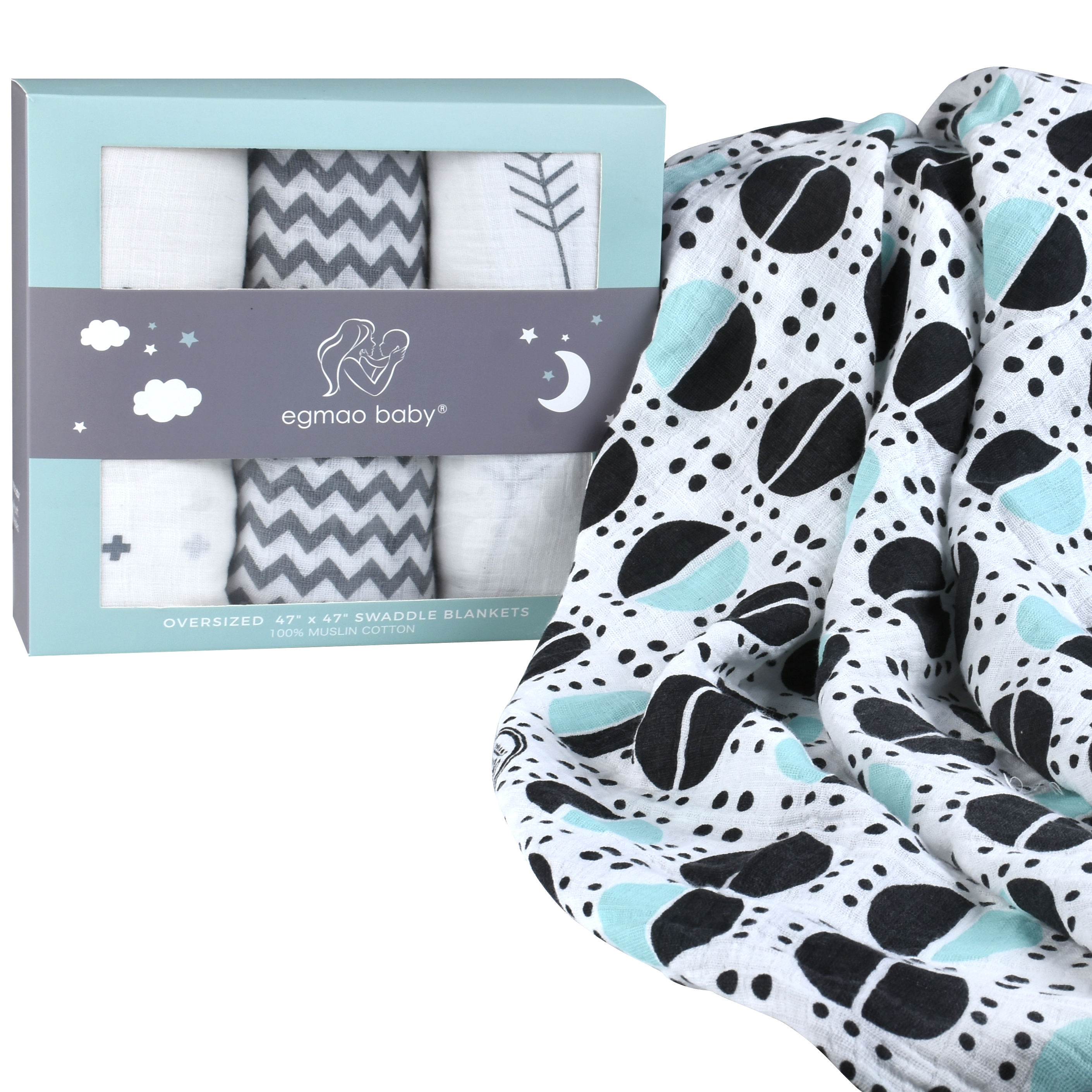 High quality baby swaddle muslin cotton baby blankets