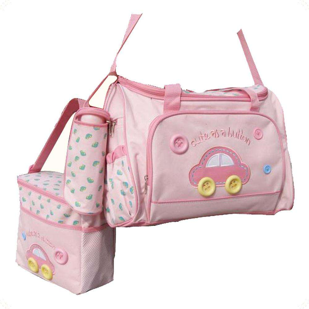Custom Multifunctional Car style 4pcs/set Diaper bag for Mom/Mummy With Baby Nappy Change pad