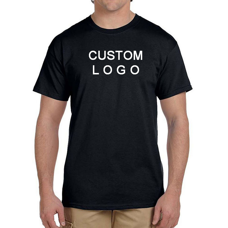 High Quality OEM Men Plain T-shirt Custom Printing 100% Cotton Casual Tee Blank Tshirts