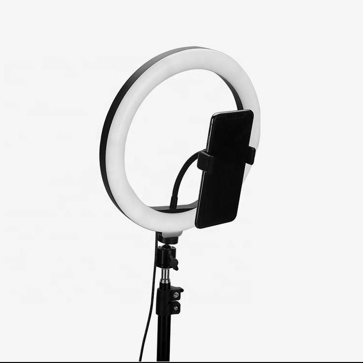 usb ring light 10inch 20cm / 26cm 18W studio photo light kit with bluetooth remote / tripod / phone holder led lamp for makeup