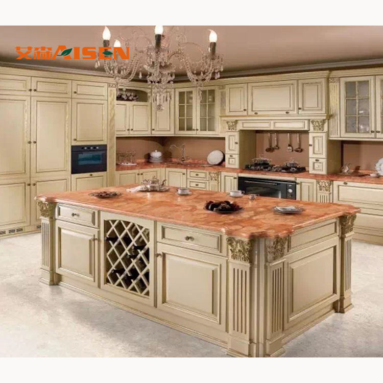 Popular French Style China Factory Direct Solid Wood Kitchen Cabinets Buy Wood Kitchen Cabinet French Style Kitchen Cabinet Europe Standard Kitchen Cabinet Product On Alibaba Com