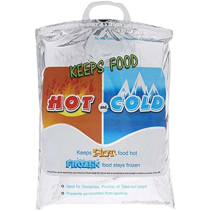 "2020 New Free Sample 100% Food Safe Hot and Cold Restaurant Bag 23""x14"" for Supermarket Hypermarkets"
