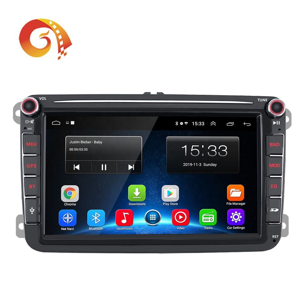 "8003C 2din 8"" inch Multimedia Touch Screen Car Stereo Auto Radio Navigation System Media DVD Player For VW Universal"