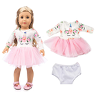 Wholesale Our Generation Craft Matching Packaging Reborn Baby Doll Pink Lingerie Dress Set 18 Inch American Girl Doll Clothes