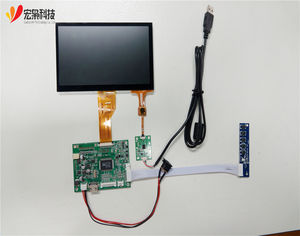 IIC / USB LVDS 7inch 1024*600 tft lcd display module with industrial capacitive touch screen panel