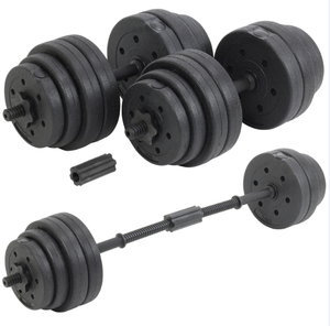 Doublewin Fitness 30Kg Dumbbells Pair of Weights Barbell Body Building Set