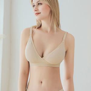 Manufacture Front Open Nursing Bra Soft Breathable Maternity Wireless Adjustable Shoulder Strap Bras