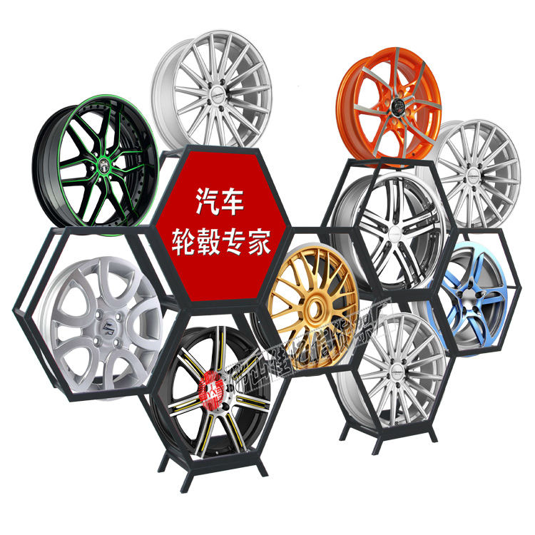 Bordo di auto di visualizzazione del basamento cerchi in lega display rack wheel rim display rack