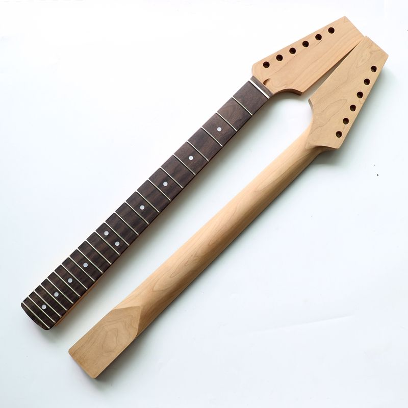Unfinished 22 fret Roasted Maple Neck Electric Guitar neck for TL guitars with rosewood fingerboard