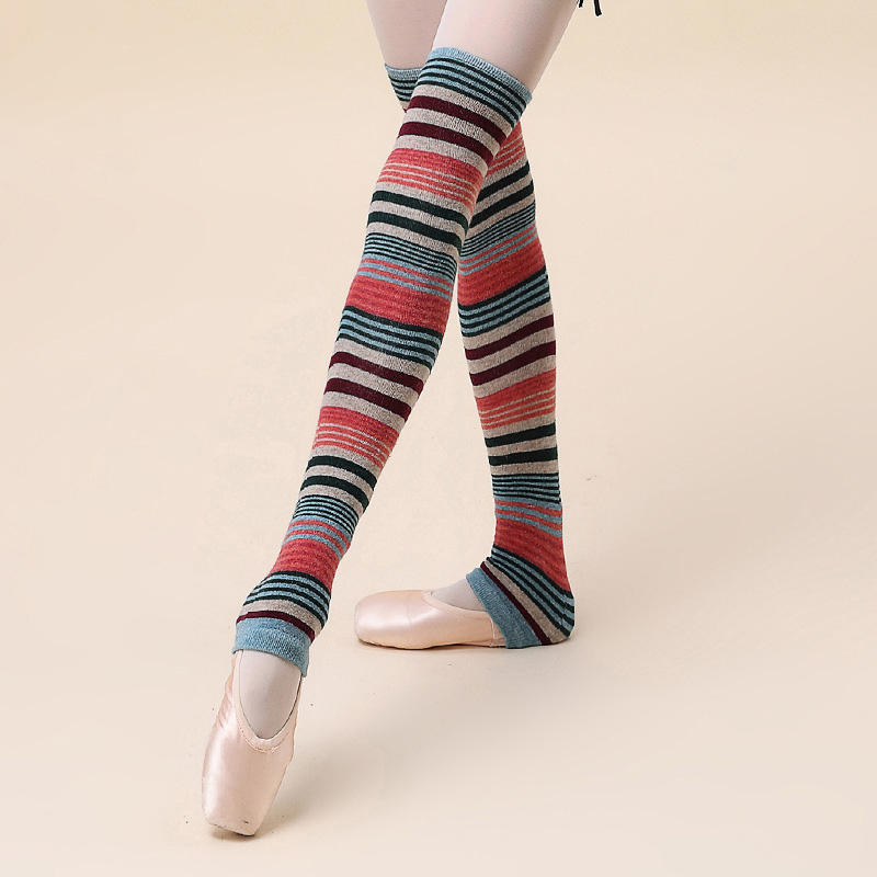 Octavia wholesale Women Dance Yoga Ballet Over Knee High Footless Sock Thigh High Knit Long Leg Warmer