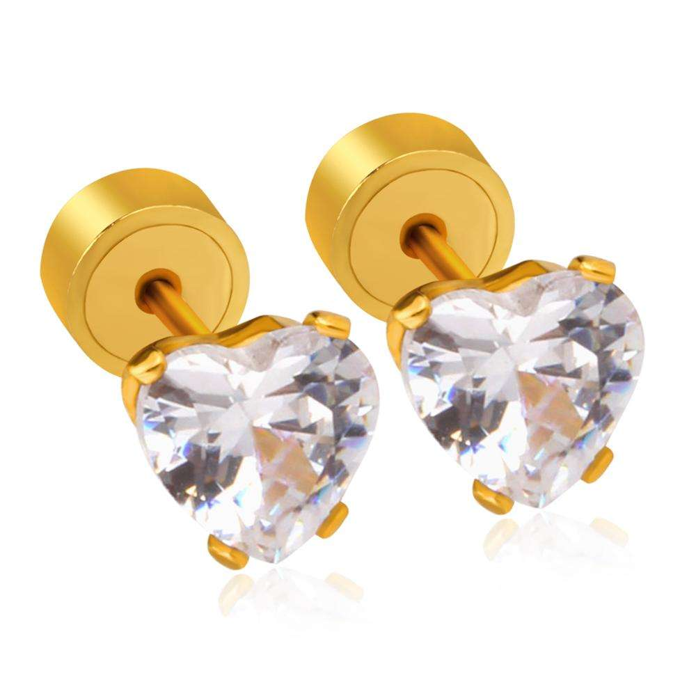 Diamond Gold Earring Jewelry Zircon Earrings Jewelry Type Gold Plated Earrings