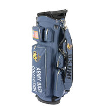 customized premium nylon material Mant color choice golf bag stand 14 clubs packing golf event practice team staff bags