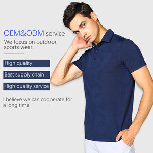 Custom branded 2020 latest Polyester/spandex blend Moisture wicking golf polo t shirt