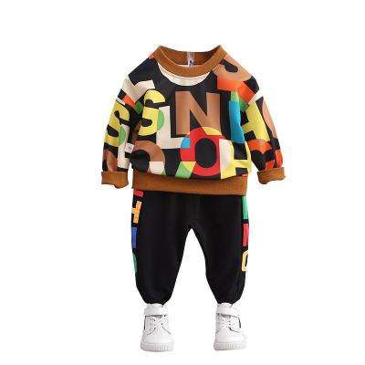 Spring Autumn Baby Boys' Letter Printed Sweater Set Children's Sports Clothes Long Sleeve Clothing Set Boys Kids 5 Sets 80-110cm