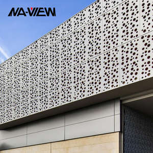 Copper color Hole Aluminum Decorate Perforated Sheet Metal Facade Cladding