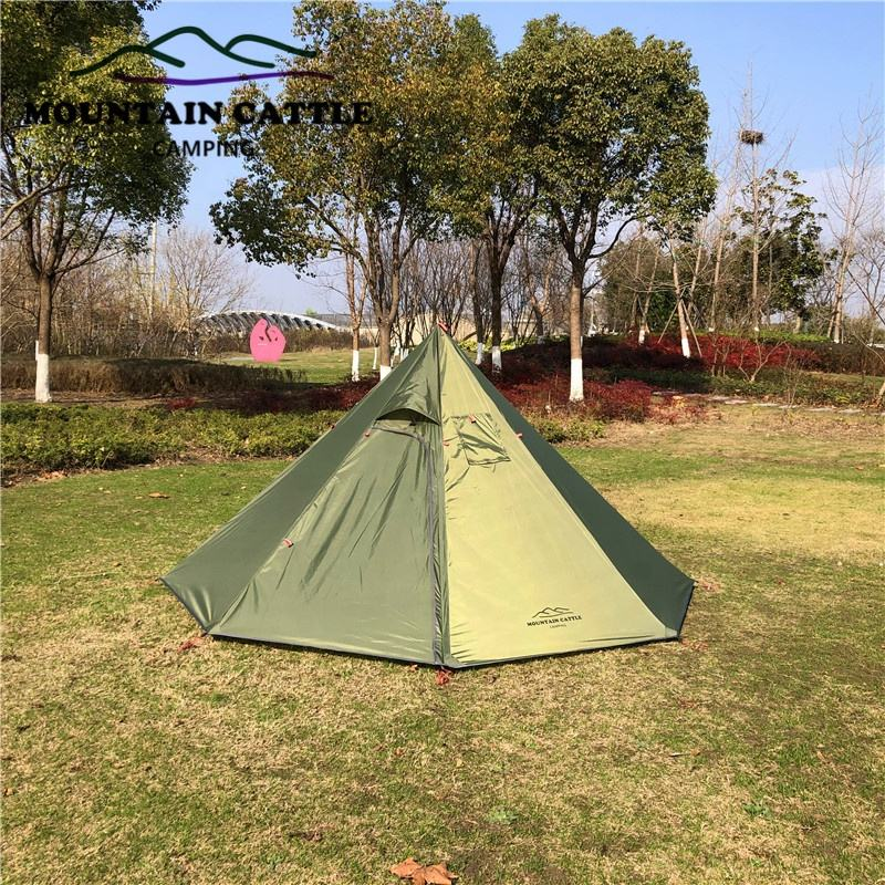 Mountaincattle 3 Persoon Lichtgewicht Tipi Tent Hight Wind Weerstand Teepee Tenten Voor <span class=keywords><strong>Outdoor</strong></span> Backpacken Camping Wandelen