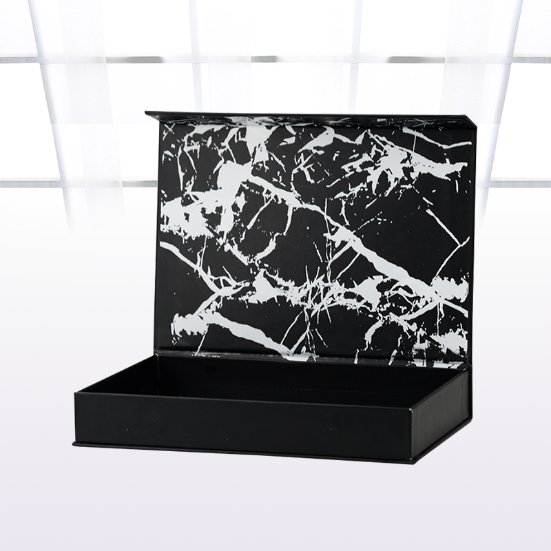 OEM factory made black box cheap price wholesale custom marble box luxury gift black magnetic magnet box with LOGO