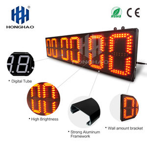 Hangzhou Honghao New Design 6 Digits Sport Watch Digital Clock Countdown Timer