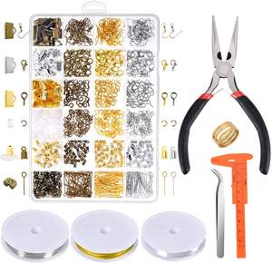 Jewelry Making Supplies Kit Jewelry Repair Tools with Accessories Jewelry Pliers Findings and Beading Wires for Adult