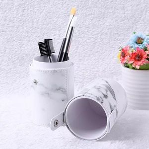 Makeup Brush Holder Large Capacity Make up Brush Case Organizer Cosmetic Cup Cylinder Storage Bag