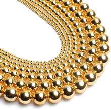 Gold Hematite Round Loose Beads for Jewelry Making