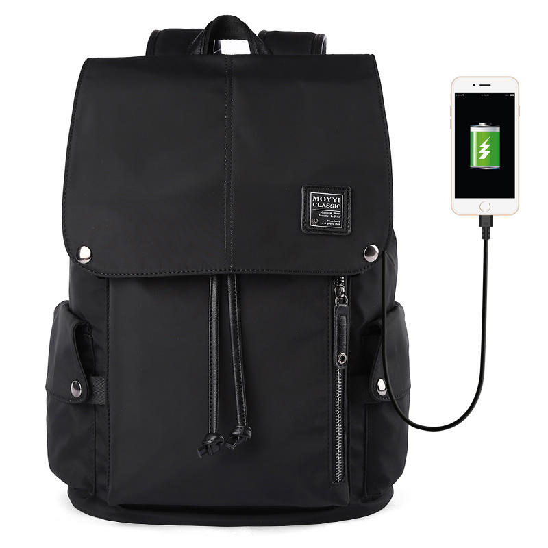 MOYYI New Men Anti theft USB Charging Waterproof Travel Outdoor 15.6 inch Laptop Backpack for Men
