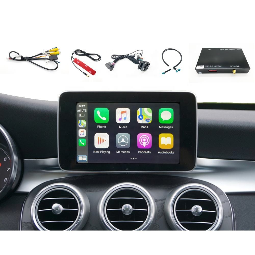 New W205 Apple CarPlay Android Auto Video Interface Kits For Mercedes Benz CarPlay In Class C GLC GLE NTG5 Reverse Assist