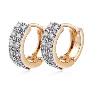 YIDING fine jewelry Cute Micro Inlay Cubic Zirconia Diamond Earrings Women Girls CZ Stone Round Circle Clip On Earrings