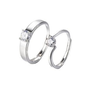 DTINA Engagement Diamond Ring 925 Sterling Silver Fashion Couple Ring Wedding Ring