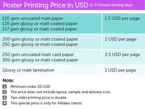 small quantity over size paper poster printing