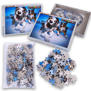 Promotional paper puzzles, adult DIY puzzle customization, animal shape puzzle games