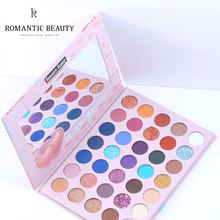 Romantic Beauty Customized Colorful Eye Shadow Palette Glitter Highlighter Shimmer Make Up Pigment Matte Cosmetics