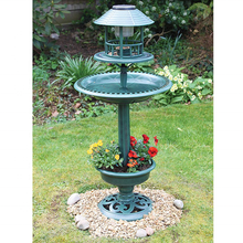 2020 Hot Garten Jardin Garden outdoor planter solar bird bath hotel feeding station