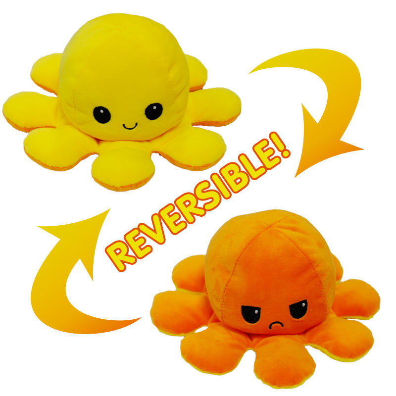 RTSZO-465 Lovely Double Sided Reversible Octopus Soft Doll Reversible Octopus Plush
