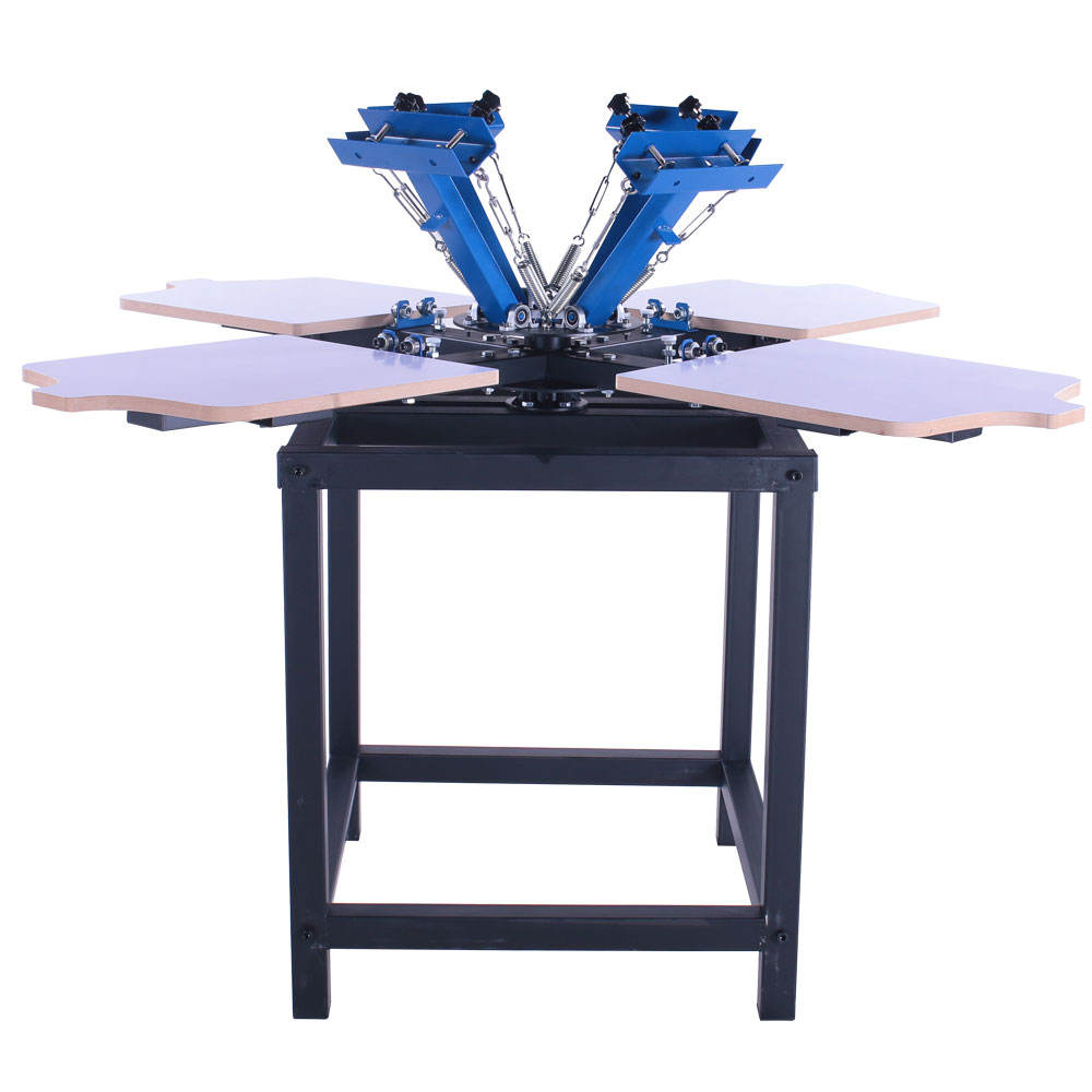 4 Color 4 Station 45x55cm T shirt Custom Silk Screen Printing Machine with Table in Cheap Price